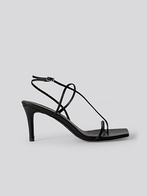 NA-KD Shoes Strappy Stiletto Sandals svart