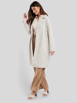 NA-KD Classic Light Herringbone Coat beige
