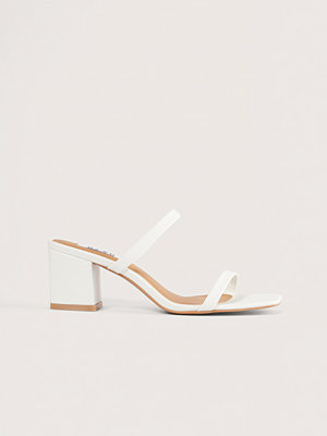 NA-KD Shoes Squared Two Strap Sandals vit