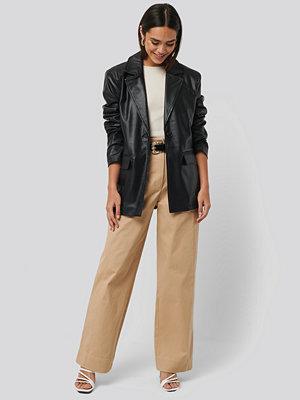NA-KD Trend Heavy Cotton-blend Pants beige byxor