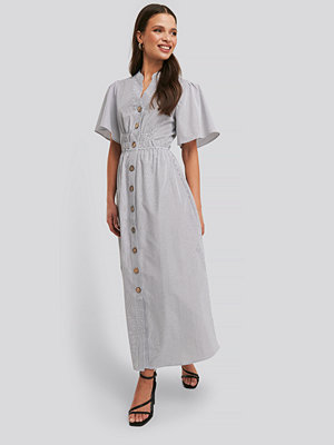 NA-KD Trend Cinched Waist Maxi Shirt Dress multicolor