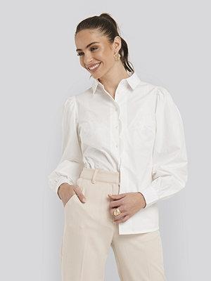 Skjortor - NA-KD Classic Scalloped Shirt vit