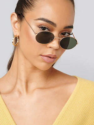 NA-KD Accessories Oval Metal Frame Sunglasses guld