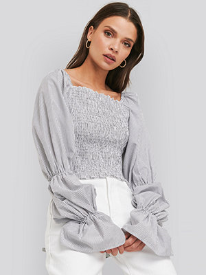 NA-KD Trend Smocked Cropped Top multicolor