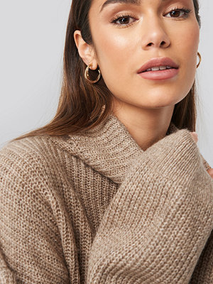 NA-KD Trend Knitted Turtle Neck Sweater beige