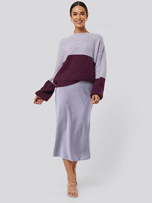 NA-KD Classic Satin Skirt lila