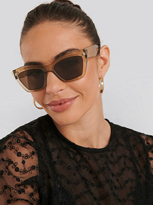 NA-KD Accessories Pointy Squared Cateye Sunglasses beige