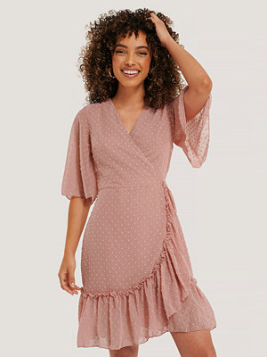 Trendyol Wrap Dot Mini Dress rosa