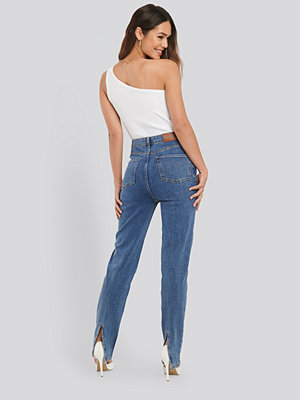 NA-KD Trend Slit Back Denim blå