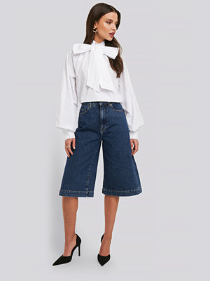 Shorts & kortbyxor - NA-KD Trend Mid Rise Denim Culottes blå
