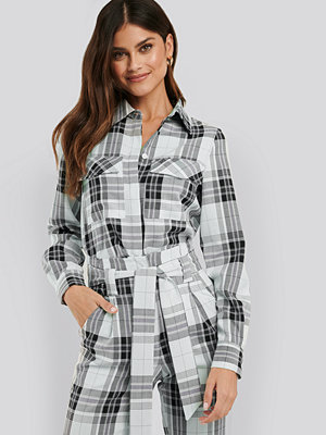 NA-KD Classic Plaid Oversized Shirt multicolor