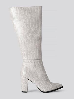 Trendyol Croco High Boots grå