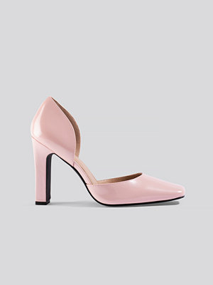 NA-KD Shoes Squared Pumps rosa