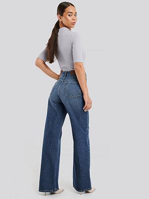 NA-KD Trend High Waist Straight Jeans blå
