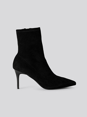 NA-KD Shoes Slim Stiletto Pointy Boots svart