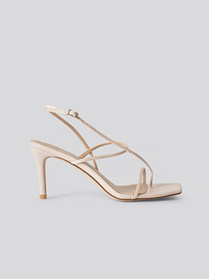 NA-KD Shoes Strappy Stiletto Sandals beige
