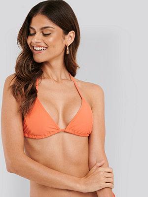NA-KD Swimwear Triangle Bikini Top orange
