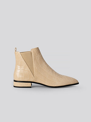 NA-KD Shoes Low Pointy Chelsea Boots beige