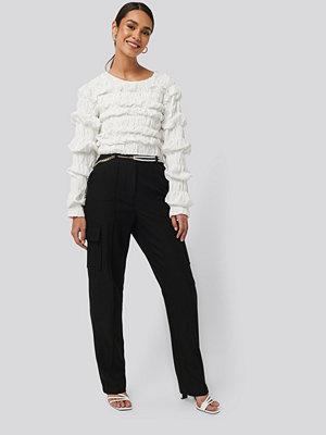 NA-KD Trend svarta byxor Straight Fit Pocket Suit Pants svart