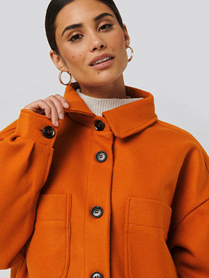 NA-KD Big Sleeve Oversized Jacket orange