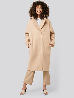 NA-KD Dropped Shoulder Coat beige