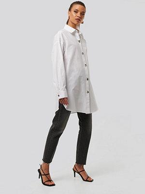 Tunikor - NA-KD Trend Oversize Skjorta vit