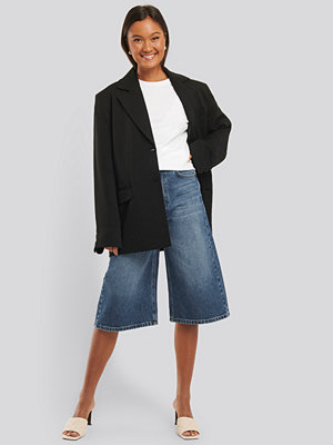 NA-KD Trend Culotte Jeans blå