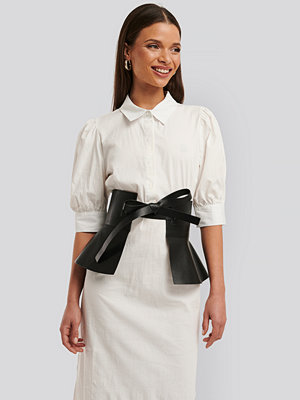 NA-KD Accessories Frill Detail Waist Belt svart