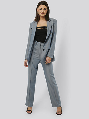 NA-KD Trend Kostymbyxor blå grå