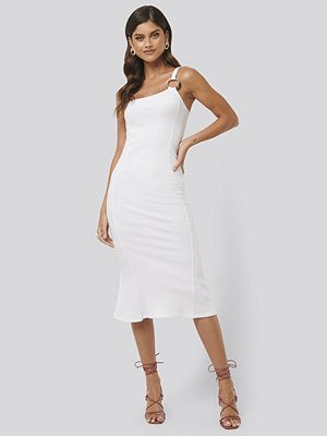 NA-KD Trend Ribbed One Shoulder Dress vit