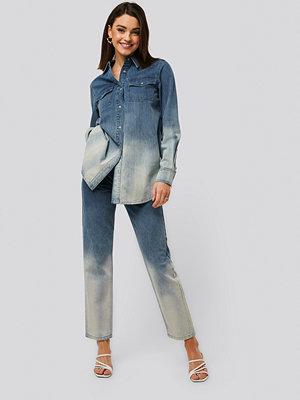 NA-KD Mom-Jeans Med Hög Midja blå