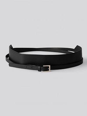 NA-KD Accessories Långt Midjebälte I Lager svart