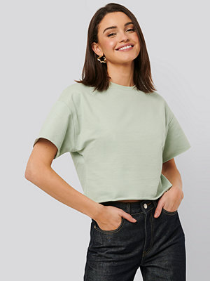 NA-KD Basic Sweatshirt Tee grön