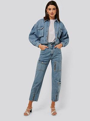 NA-KD Trend Jeans Med Lös Passform blå