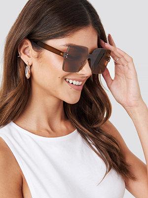 Paulinye x NA-KD Squared Sunglasses brun