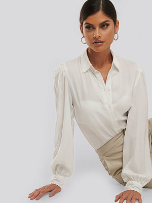 NA-KD Trend Volume Sleeve Shirt vit