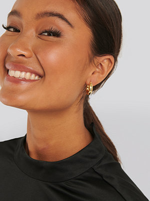 NA-KD Accessories smycke Gold Plated Chunky Earrings guld