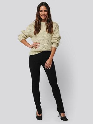 Leggings & tights - NA-KD Zip Detail Long Jersey Pants svart