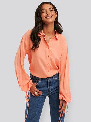 Tunikor - NA-KD Trend Skjorta Med Ballongärm rosa