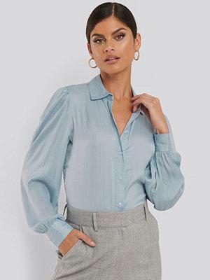 NA-KD Trend Volume Sleeve Shirt blå