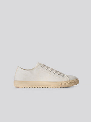 NA-KD Shoes Rubber Sole Canvas Trainers beige