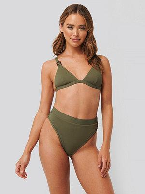 NA-KD Swimwear Structured Edge Maxi Highwaist Panty grön