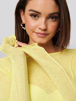 NA-KD Trend Jersey-Topp gul