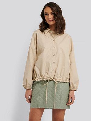 NA-KD Trend Skjorta Med Ballongärm beige