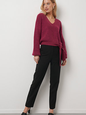 Kristin Rödin x NA-KD svarta byxor Straight Suit Pants svart