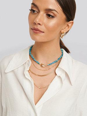 NA-KD Accessories smycke Halsband I Lager Med Stenar blå guld