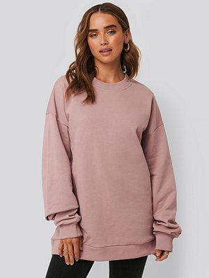 NA-KD Basic Oversized Crewneck Sweatshirt rosa