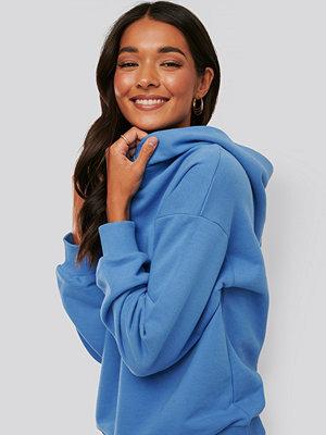 NA-KD Trend Hoodie Med Detaljer blå