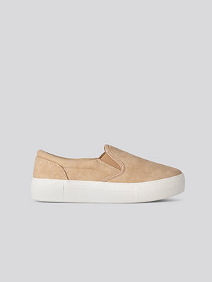 NA-KD Shoes Basic Slip In Trainers beige