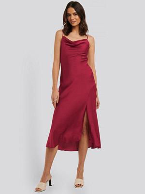 Trendyol Thin Strap Midi Dress burgundy